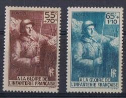 FR 79 - FRANCE N°386/87 Neufs** - Monument Gloire De L'infanterie - Unused Stamps