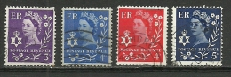 Great Britain ; 1958 Issue Stamps - Northern Ireland