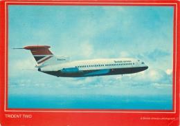 British Airways Trident Two Aircraft Postcard Colourmaster - 1946-....: Moderne