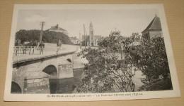 St Mars La Jaille - Le Pont Sur L'erdre Vers L'église - France