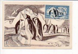 1958 T.A.A.F. Base Dumont D'Urville Terre Adélie >Paris 16 Aff.100 Fr N°3 P. Aérienne Année Géophysique Intern. - Brieven En Documenten
