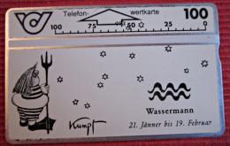 Telefonkarte Sternzeichen Wassermann Motiv Von G.Kumpf Telephone Card - Zodiaco