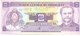 2 Lempiras, Date 12.05.1994, P-72,  UNC - Honduras