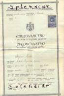 Revenue-Tax Stamp- Diplome-Yugoslavia-1934 - 1931-1941 Kingdom Of Yugoslavia