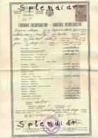 Revenue-Tax Stamp-diplome-YUGOSLAVIA-1932 - 1931-1941 Kingdom Of Yugoslavia