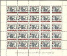 Bulgaria 1961 Mi# 1249 ** MNH - Sheet Of 25 - Soviet Space Dogs - Europa