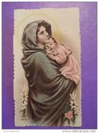 Eb 398 - Madonna Del RIPOSO Ferruzzi / Istituto Gualandi Per SORDOMUTI/E Sez.Femminile - Anno 1947 FIRENZE.- Santino - Images Religieuses