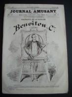 LE JOURNAL AMUSANT N 518 De 1865.. Portraits De La Famille Benoitou Et Cie Par GREVIN, - 1850 - 1899