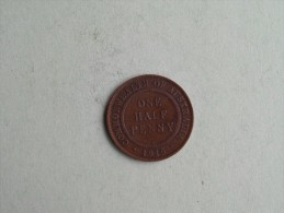 1915 H - George V - 1/2 ( Half ) Penny / KM 22 Scarce / Rare ( Uncleaned - For Grade, Please See Photo ) ! - Monnaie Pré-décimale (1910-1965)