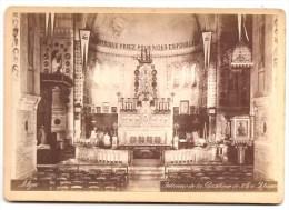 018 - Photo Collée Représentant Une Vue De L'intérieur De La Basilique De Notre Dame D'Afrique à Alger - Orte