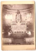 018 - Photo Collée Représentant Une Vue De L´intérieur De La Basilique De Notre Dame D´Afrique à Alger - Orte
