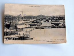Carte Postale Ancienne : SAINT-PIERRE ET MIQUELON : SAINT-PIERRE : Long Courrier à La Cale De La Morue Française - Saint-Pierre-et-Miquelon