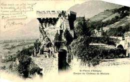 CPA   -SAINT PIERRE D ALBIGNY   -  DONJON DU   CHATEAU DE MIOLANS      AD83 - Saint Pierre D'Albigny