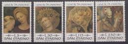Saint-Marin Mi.nr.:1055-1058 Geburtstag Von Gentile Da Fabriano 1973 Neuf Sans Charniere / Mnh / Postfris - Neufs