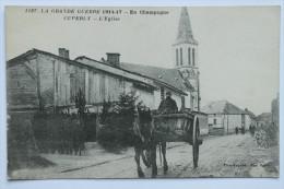 CPA La Grande Guerre 1914 17 En Champagne Cuperly L'eglise - FA01 - Francia