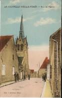 LA CHAPELLE VIEILLE-FORÊT (89) : Rue De L'Eglise. CPA Colorisée Et Animée. Très Rare. - Autres Communes