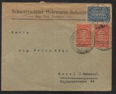 SC058-  MI#: 223,253- INFLATION  COVER CIRCULATED 1923 FROM SCHWARZWALDER TO BASSEL-SWITZERLAND - Deutschland