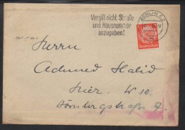 SC073- HINDENBURG ISSUES- COVER CIRCULATED 1935 FROM BERLIN TO ??? - Deutschland