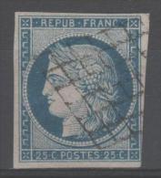 Cérès  N° 4 Avec Oblitèration Grille De 1849  TB - 1849-1850 Cérès