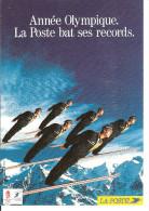 ANNEE OLYMPIQUE - LA POSTE BAT SES RECORDS - ALBERTVILLE 1992 - Advertising