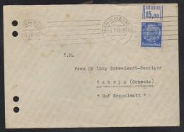 SC088- HINDENBURG ISSUES- COVER CIRCULATED 1937 FROM MANHEIM  TO SCHWYZ-SWITZERLAND - Deutschland