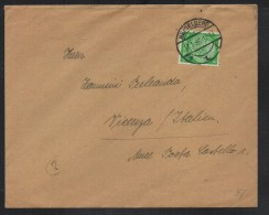 SC098- HINDENBURG ISSUES- COVER CIRCULATED 1936 FROM HEIDELBERG TO VICENZA-ITALY - Deutschland