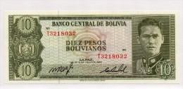 Banconota FDS  Della Bolivia Da 10 Pesos Del 1962 - Bolivia