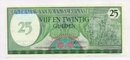 Banconota FDS Suriname Da 25 Gulden Del 1985 - Suriname