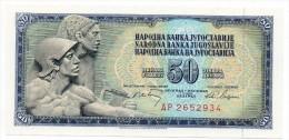Banconota FDS Della Jugoslavia Da 50 Dinari Del 1968 - Jugoslavia