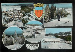 Jougne Winter Skiing, France Postcard RP CPA - France