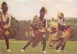 Chuka Dancers With Drums Tribal Life, Kenya Postcard Used Posted To UK 1985 Nice Stamp - Kenya