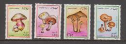 Algeria 1989 Fungi Mushroom Set 4 MNH - Mushrooms
