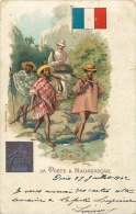 La Poste à Madagascar  Chaise à Porteurs, Timbre   Voyagée 1902 - Postal Services