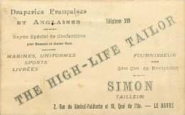 SIMON Tailleur Le Havre  «The High Life Tailor» - Publicités