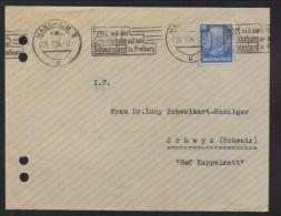 SC138- HINDENBURG ISSUES-  COVER CIRCULATED 1934 FROM MANHEIM TO SCHWYZ-SWITZERLAND, - Brieven En Documenten