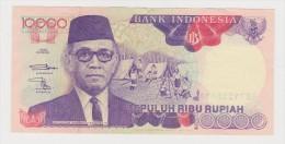Banknote Indonesian 10 000 Rupee 1992 - Sri Sultan Hamengkubuwono IX - Scouts Camping - Borobodur - Iran