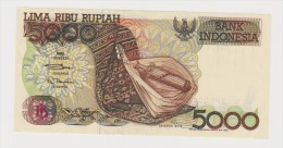 Banknote Indonesian 5 000 Rupee 1992 - Sasando Rote - Lake Kelimutu - Iran