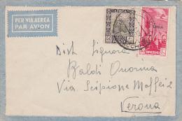 1941 Libya Cover  Sent To Verona - Libia