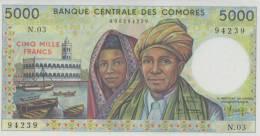 COMOROS P. 12a 5000 F 1984 UNC - Comores