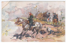 France 1812 War Napoleon, Printed In Russia, Horse Horses - Uomini Politici E Militari
