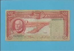 ANGOLA - 500 ESCUDOS - 10.06.1970 - P 97 - Série 30Ga - AMÉRICO TOMÁS - PORTUGAL - Angola