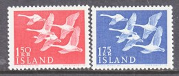 ICELAND  298-9  **  FAUNA  SWANS - 1944-... Republic
