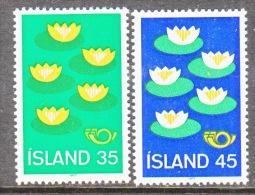ICELAND  496-7  **   NORDIC  CO-OP   FLOWERS  LILIES - 1944-... Republic