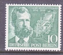 GERMANY  BERLIN   9 N 105   * - Unused Stamps