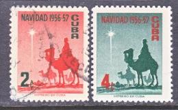 CUBA   562-3  (o)  CHRISTMAS  STAR - Cuba