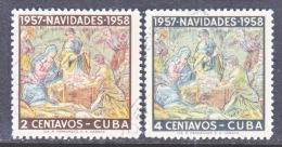 CUBA    588-9     (o)  CHRISTMAS - Cuba