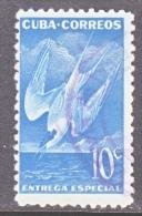C U BA    E  18   (o)   BIRD - Express Delivery Stamps