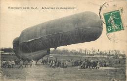 MANOEUVRE DU C.B.A. L'ARRIVEE AU CAMPEMENT - Dirigeables