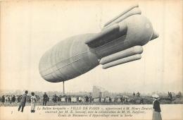 BALLON DIRIGEABLE VILLE DE PARIS D'HENRY DEUTSCH - Dirigeables