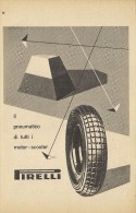 # PIRELLI Tyres 1950s Car Tires Italy Advert Pub Pubblicità Reklame Pneumatici Pneus Reifen Neumaticos F.1 - Transporto